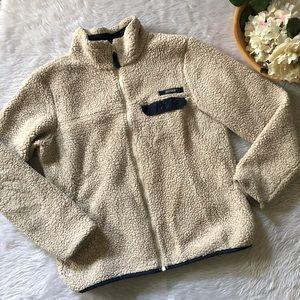 Columbia Cream Fuzzy Zip Up Jacket